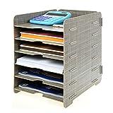 Menu Life Desk Wooden File Cabinet Storage Boxes A4 Size Paper Organiser File Document Magazine Folder Holder (Grey)