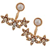 Maayra Classic White Gold Pearl College Drop Earrings best price on Amazon @ Rs. 625