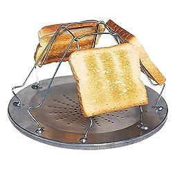 NGT De Luxe Camping Angeln Outdoor Wandern Extra Gro/ß XL Toastie Maker Compact Sandwich Grill Ofen Auswahl unter Schwarz oder Silber