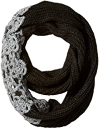 Betsey Johnson Women's Winter Bloom Infinity Muffler with Lace Applique Detail