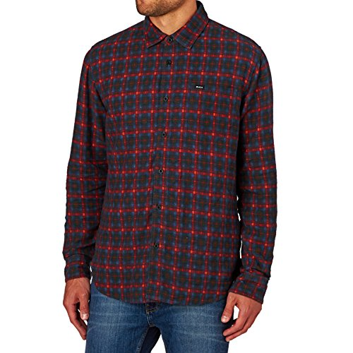 rvca-flannel-shirts-rvca-soon-as-long-sleeve-shirt-pompei-red