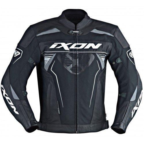 Preisvergleich Produktbild Ixon Motorradjacke - Frantic,  Noir / Blanc,  Größe 4XL