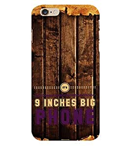 HiFi Designer Phone Back Case Cover Apple iPhone 6 :: Apple iPhone6 ( 9 Inches Big Phones Wood Look )