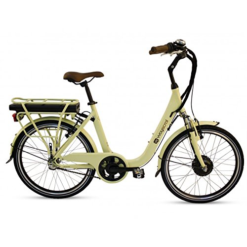 BICICLETA ELECTRICA WAYSCRAL CITY 425 36 V  COLOR BLANCO  TAMAÑO 6 6 AH