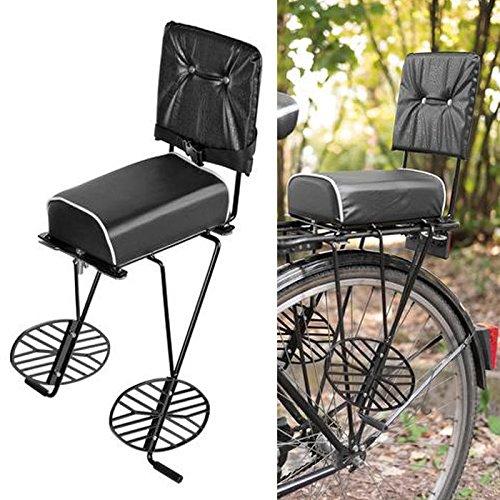Vintage Retro Fahrrad Gepäckträger Rücksitz Sitz Sattel mit Halterung Klassik Bike MTB -