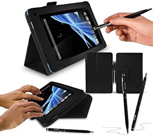 """Acer Iconia B1 7"""" Tablet Case - G-HUB PropUp Carbon Fibre Black Stand Case Cover (with integrated stand function) for Acer Iconia B1-A71 with BONUS: G-HUB ProPen Stylus"""