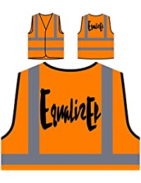 Equalizer Funny Personalized Hi Visibility Orange Safety Jacket Vest Waistcoat c124vo