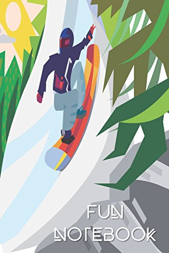 Fun Notebook: Boys Books - Mini Composition Notebook - Ages 6 -12  - Snowboarding por Simple Planners and Journals