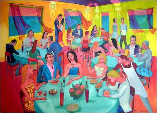 Forex-Platte 100 x 70 cm: Klassentreffen 7b von Diego Manuel Rodriguez