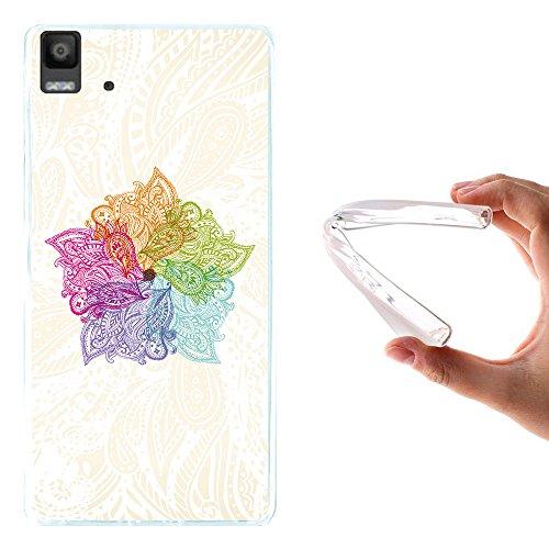 Bq Aquaris E5s - E5 4G Hülle, WoowCase Handyhülle Silikon für [ Bq Aquaris E5s - E5 4G ] Bunte Mandala Handytasche Handy Cover Case Schutzhülle Flexible TPU - Transparent