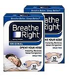 Breathe Right Nasal Strips Natural Large 30 *2 PACKS