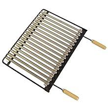 IMEX EL ZORRO 71630 BBQ Grill, Stainless Steel, 76 x 41 cm.