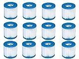 Ersatz Intex 29007e Schwimmen Pool Filter Filterkartusche H–12Stück