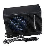 Baoblaze 12V Mini Mobile Klimaanlage Luftkühler Air Cooler mit Wasserkühlung für Zimmer Auto, schwarz