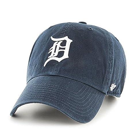 Detroit Tigers 47 Brand Clean Up Adjustable Hat Chapeau - Navy