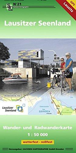 Lausitzer Seenland: Wander- und Radwanderkarte 1:50 000 GPS-fähig wetterfest - reißfest