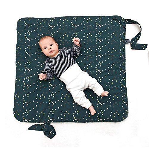 Sevira Kids Baby Mädchen Schlafsack grau Léo Pompier Gris Dès la naissance - 3/4 Mois environ, 75 x 75 Cm
