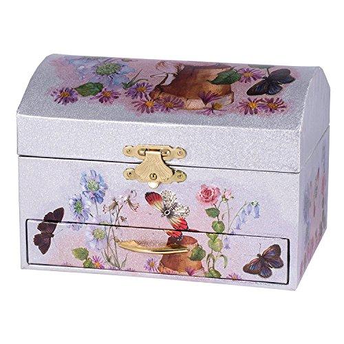 Childrens Musical Jewellery Music Box Ballerina Butterfly Butterfly Music Box