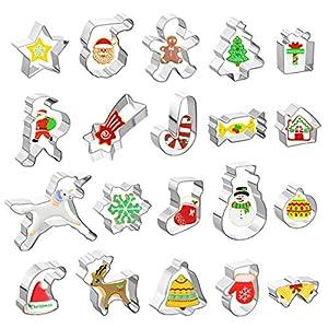 GWHOLE 20 Piezas Navidad Moldes