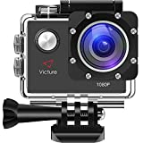 Victure Actioncam Full HD 1080P 12MP 170° Wide Angle Waterproof Action Cameras Underwater Sports...
