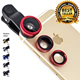 #6: Meya Happy® 3 in 1 Camera Lens For Mobile - Fisheye, Macro and Wide Lens For Smart Phones / Tablets