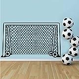 Mrhxly Fußball Fußball Tor Net Ball Sport Wandtattoo Vinyl Dekor Kunst Wandaufkleber Für Jungen Zimmer Kinder Kindergarten Wohnkultur Wandbild