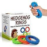Hérisson Sensorielle et d'anneau & jouet | doux, flexible et d'anneau en caoutchouc Pointes | Aide à réduire le stress et Anxiety| favorise la mise au point et de Clarté | enfants, Jeunes, adultes