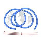 Goofit blue moto Línea de filtro de combustible de gas Abrazaderas de resorte Abrazaderas Manguera de tubo Diámetro interno Gasolina de la motocicleta Gasolina Universal Dirt ATV Ciclomotores Pack de ciclomotores