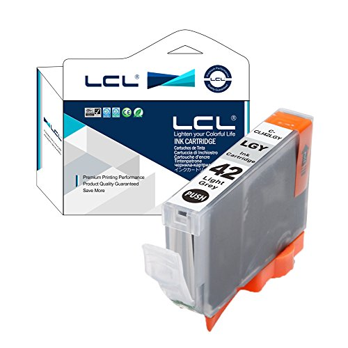 LCL CLI42 CLI-42LGY (1-Stück Hell Grau) Tintenpatrone kompatibel für Canon PIXUS Pro-100/Pro-100S