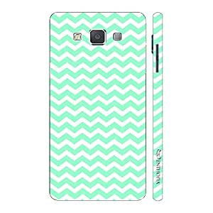 Enthopia Designer Hardshell Case CHEVRON MINT Back Cover for Samsung Galaxy E7