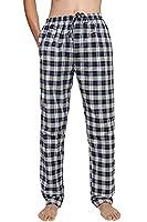 Avidlove Men Sleep Bottoms Cotton Plaid Sleepwear Flannel Lounge Pajamas Pants *2 M