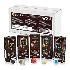 Caffè Carracci, Capsule Compatibili Nespresso, Kit Miscele Assortite - 10 astucci da 10 capsule (totale 100 capsule)