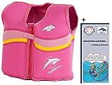 Kinder-Schwimmweste 2J-F-520 aus Neopren, Fuchsie/Pink, Größe: 12-16 kg (2-3 Jahre), Brustumfang 56 cm