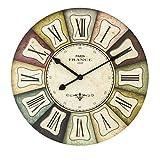 XIAOLVSHANGHANG Clock Runde Wanduhr, American Retro Industrial Style Wohnzimmer Schlafzimmer Hängen Tisch Restaurant Kreative Uhr Stille Uhr (größe : 40CM)