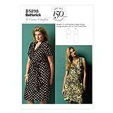 Butterick BTK 5898 WOMAN (XXL-6XL) B5898 Schnittmuster zum Nähen, Elegant, Extravagant, Modisch