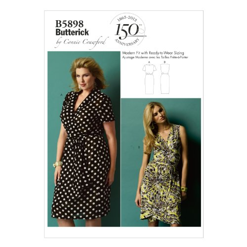 Butterick Patterns B5898 Size MIS Misses' - Women's Dress, White