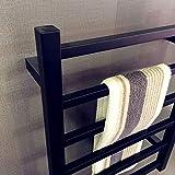 Porte-serviettes électrique noir, chauffe-serviettes de luxe, porte-serviettes de salle de bains...