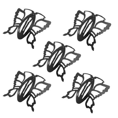 sourcingmap Coccinelle Métal Noir Papillon Type N?ud Dent Rapide Pince À Cheveux Épingle À Cheveux 5 Pcs