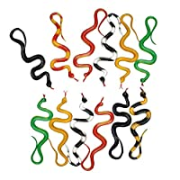 Xiluck Snakes Toys,Plastic Snakes Toys,Realistic Non-Toxic Plastic Snakes Assorted Colorful Rubber Fake Snake Toys Prank Halloween Props For Kids Childrens Boys Girls(12 Pack)