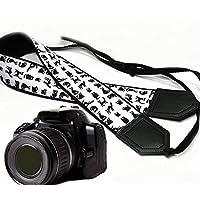 intepro schwarz Katze Kameragurt. Schwarz DSLR/SLR Kamera Gurt. Kamera Zubehör. Fotografen Geschenk. Langlebig, Leicht Gewicht und gut gepolstert Kamera Strap. Code 00004