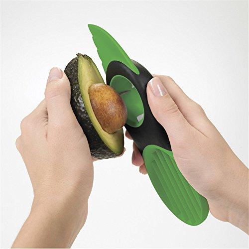 Buyer-first® Rebanadora de Aguacate, Cortador de aguacate 3 en 1 Green Splits Pits Rebanadas Sharp Blade Fruta Aguacate Mango Papaya Pitter Peeler