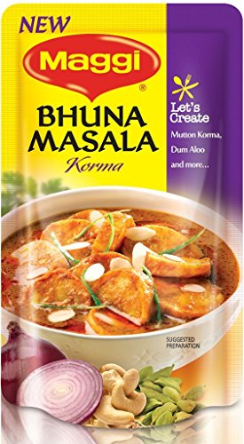 MAGGI Bhuna Masala Korma, 65g each (Pack of 3)  available at amazon for Rs.72