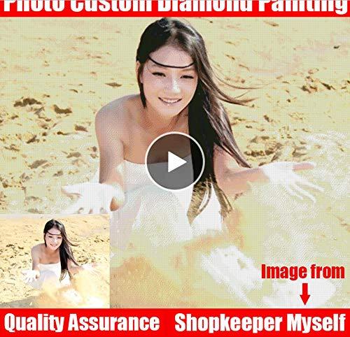 Diy 5D Diamant-Malerei, Diy Diamant-Malerei! Private Custom Photo Custom Machen Sie Ihre Eigene Diamant-Malerei Vollbohrer Diamant Strass Stickerei-70X80Cm