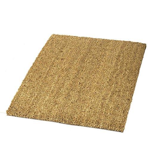 rQ Fußmatte | Kokosmatte | Innenbereich | ca. 40 x 60 cm | Matte | Sauberlaufmatte | Fußabtreter | Türmatte | Natur | Kokos