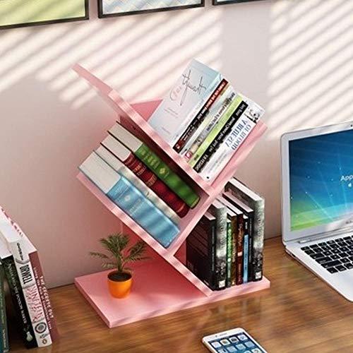 PLNXDM Desktop bücherregal,Baum Bücherregal Display Speicherorganisator Bücherregal Regale Freistehende Bücherregale Für CDs Filme Bücher Halter (10 Farbe) 2tier-G -