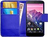 G-Shield Hülle für Google Nexus 5 Klapphülle mit Kartenfach - Blau