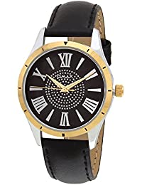 Omax Casual Watch for Ladies With Leather Strap and Steel Case