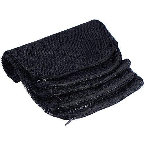 Carbon Filter Media (5 Stück Aquarium Filter Taschen, Mesh Fisch Tank Media Tasche für Bio Bälle, Pelletized Carbon, Ammoniak Entferner und Keramik Ringe, Schwarz)