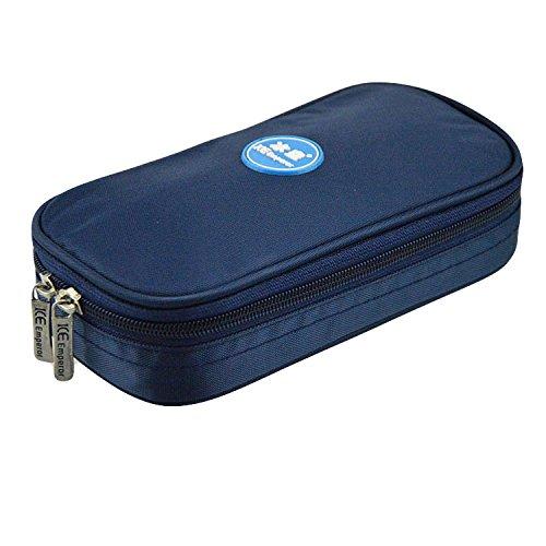 Borsa refrigerante portatile per diabete, ideale per insulina, con 4 refrigeranti, con display di temperatura