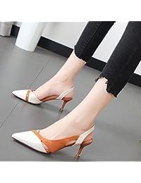 Xue Qiqi Baotou Sandalen Geschlitzten Befestigungen im Licht der High-Heel Schuhe Tipp mit Schuhen.